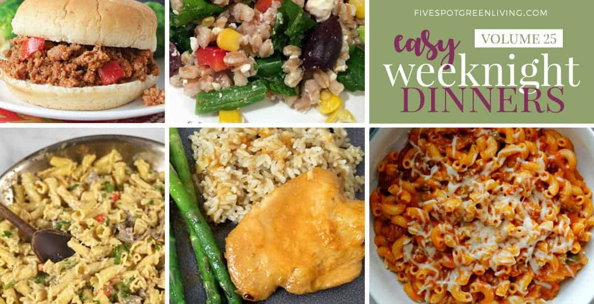 heathy meal plan dinners