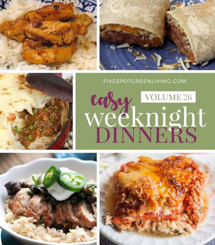 Easy Weeknight Dinners Meal Plan Volume 26