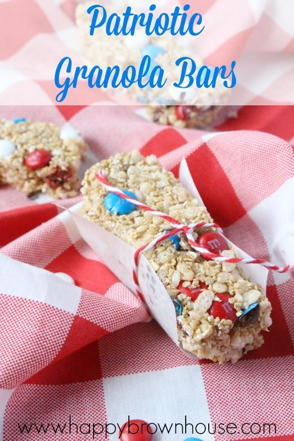 Patriotic-Granola-Bars Memorial Day Healthy Appetizers