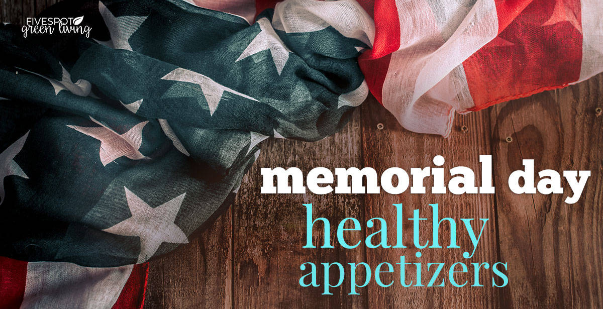 memorial day appetizers with american flag
