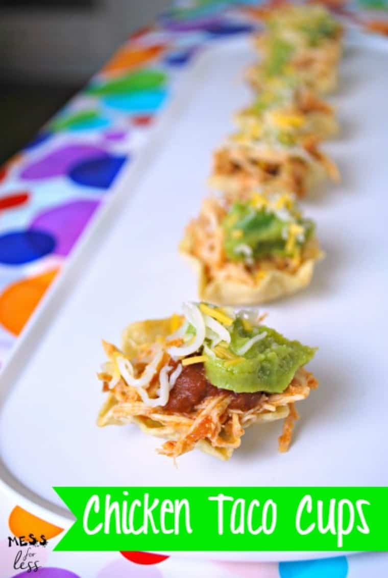 chicken-taco-cups Memorial Day Healthy Appetizers