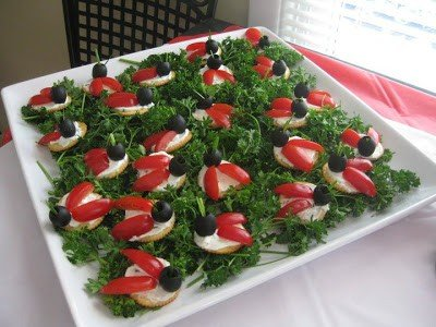 ladybug-appetizer Memorial Day Healthy Appetizers