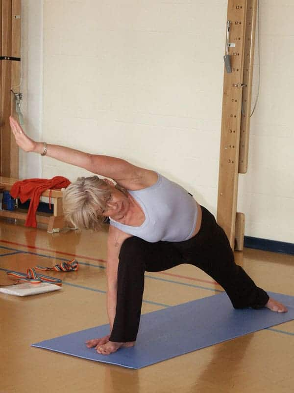 older woman yoga for morning routine