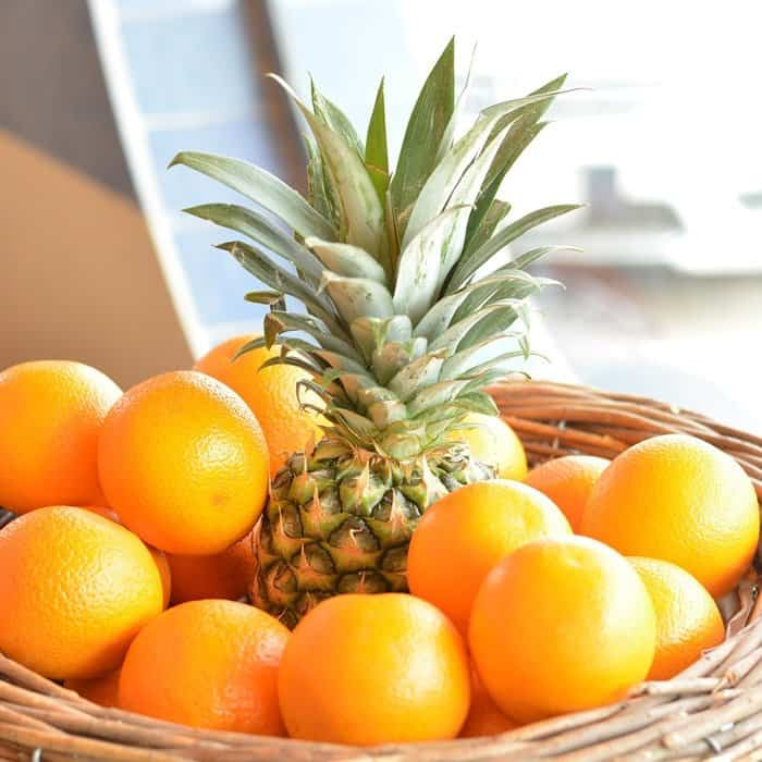 oranges and pineapple