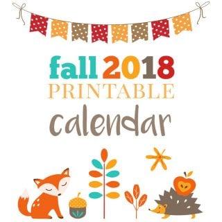 woodland animal printable calendar pages for fall