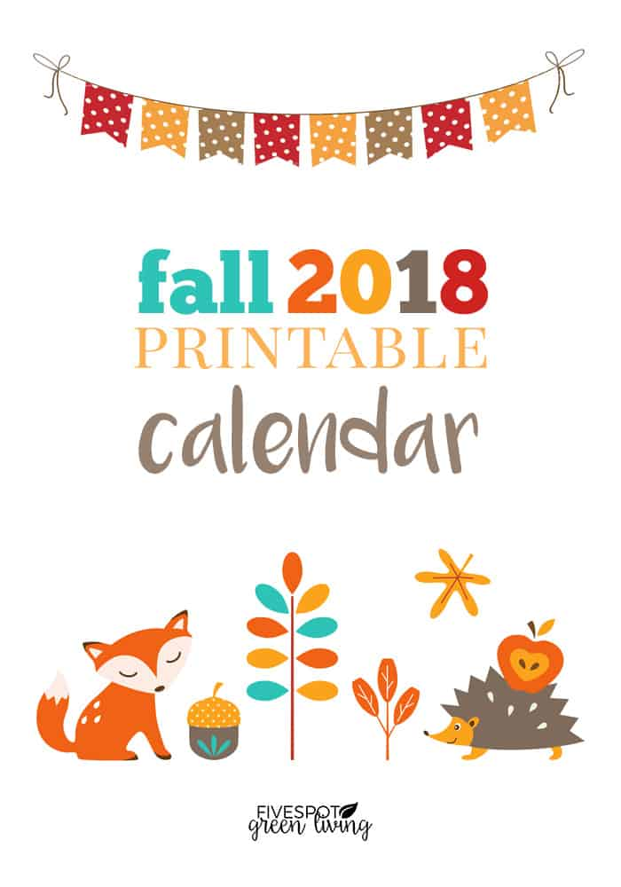 blog-fall-printable-calendar-2018-PIN Woodland Animal Printable Calendar Pages for Fall