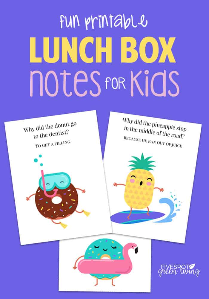 fun printable lunch box notes for kids
