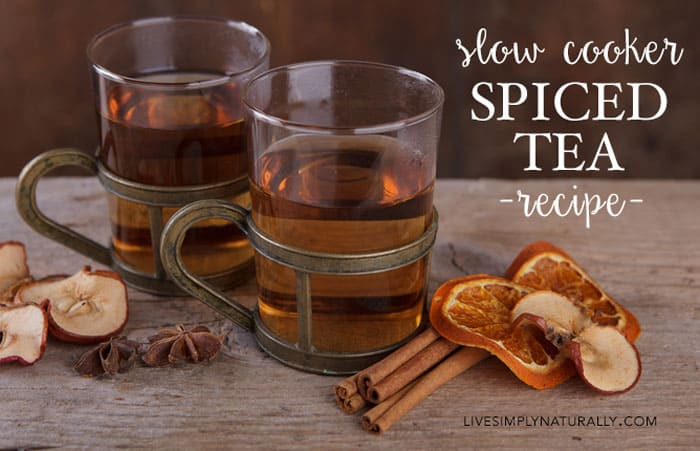 slow cooker spiced tea