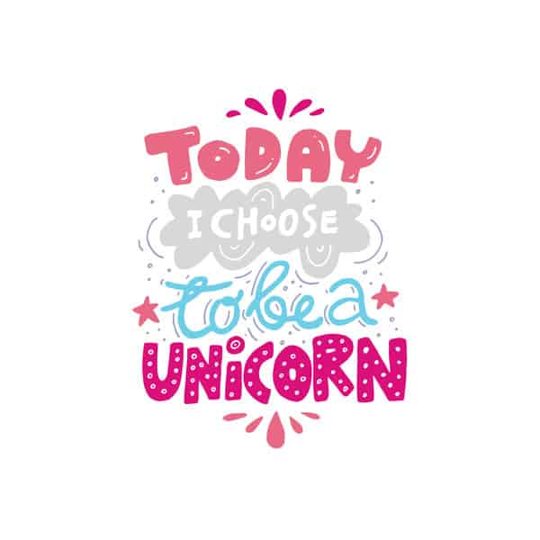 Today I choose to be a unicorn printable