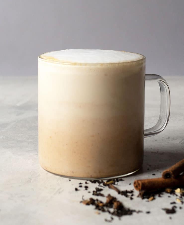 pumpkin spice chai latte drink