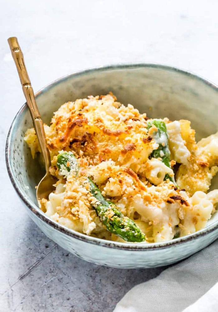 asparagus macaroni and cheese vegetarian casserole recipe