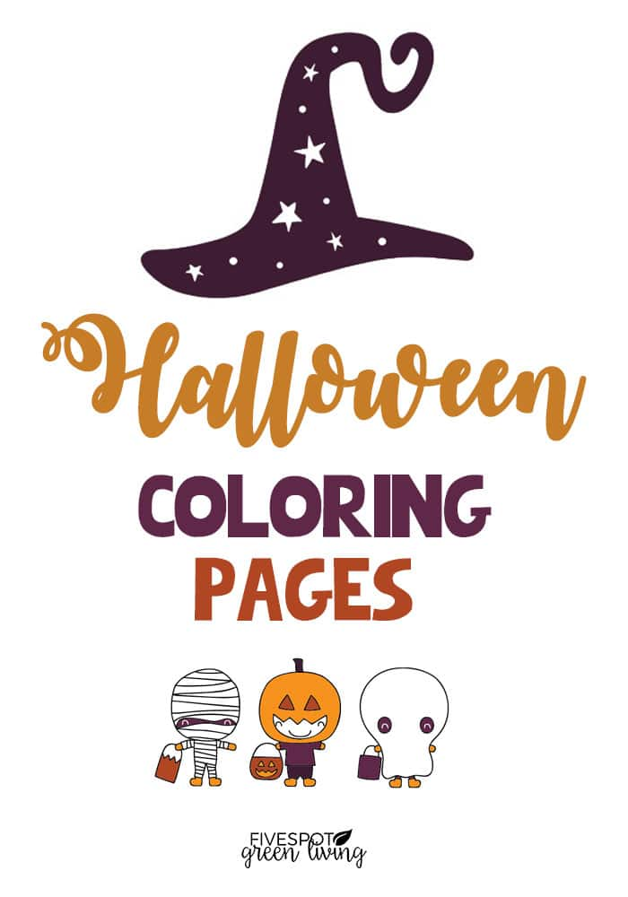 Relaxing halloween coloring pages