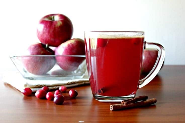 hot spiced cranberry cider recipe fresh cranberries and cinnamon