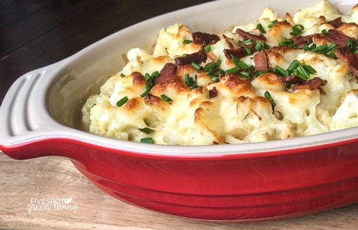 cauliflower au gratin casserole