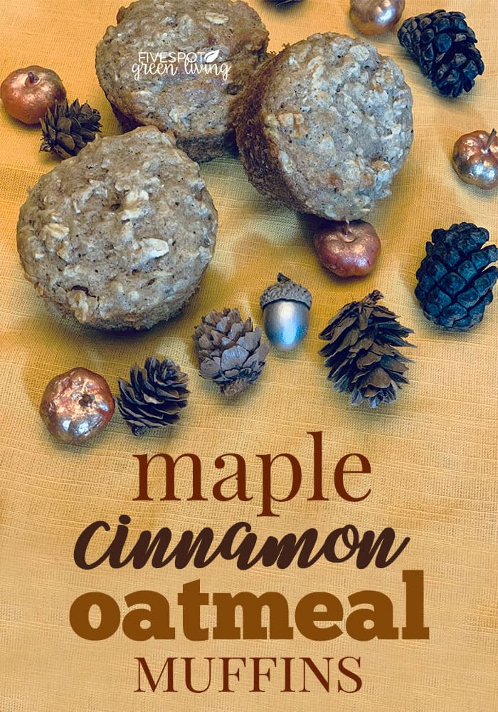 maple cinnamon oatmeal muffins for autumn harvest