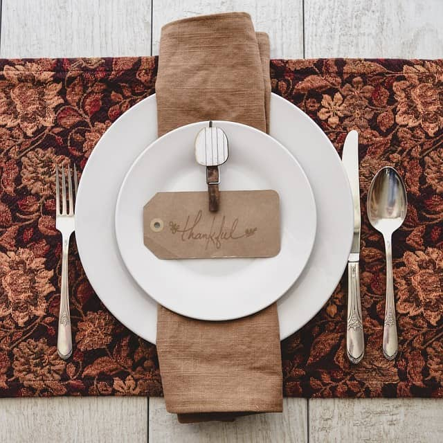 thankful pumpkin place setting