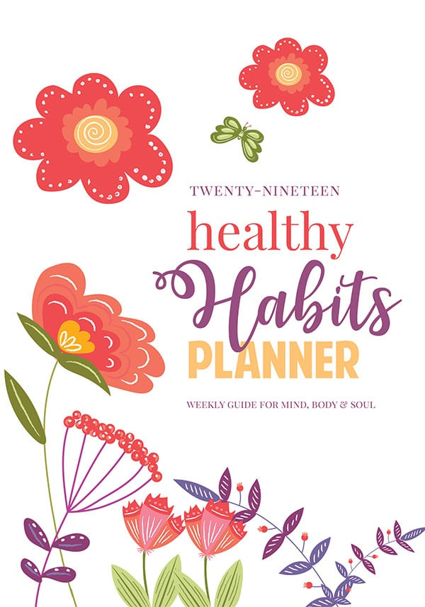 2019-healthy-habits-planner-cover-600px Daily Self Care Checklist Planner