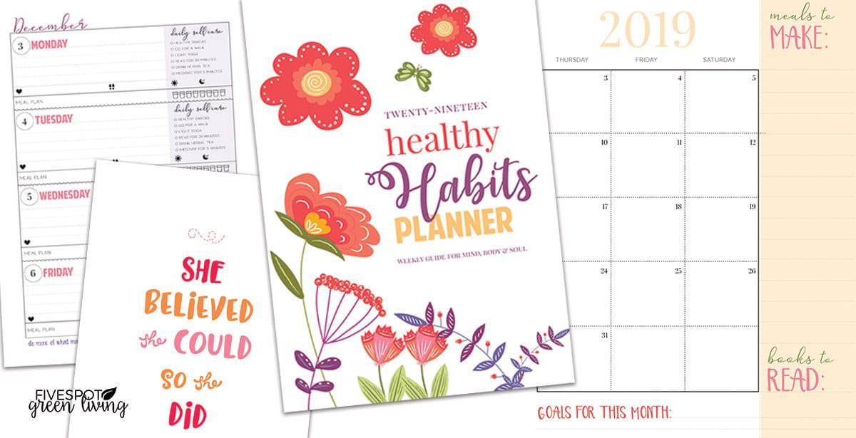 healthy habits self care planner