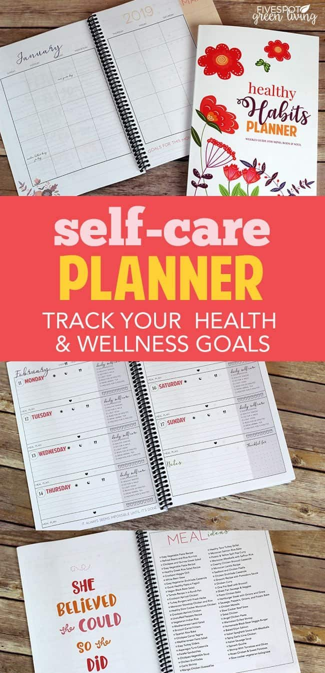 daily self care checklist planner for health and wellness