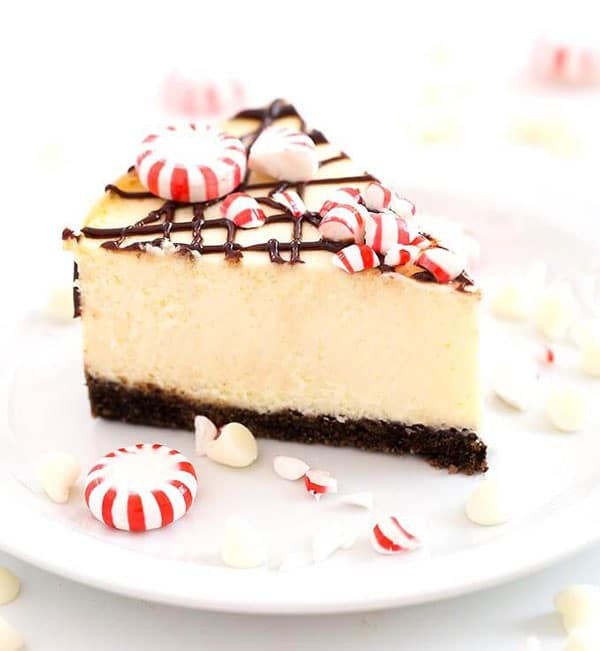 instant pot white chocolate peppermint cheesecake