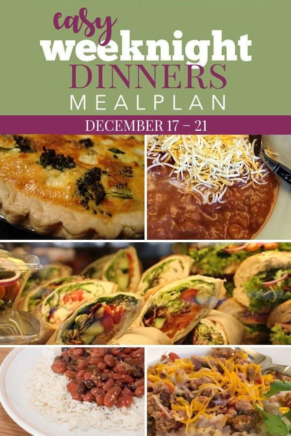 easy weeknight dinners december 17
