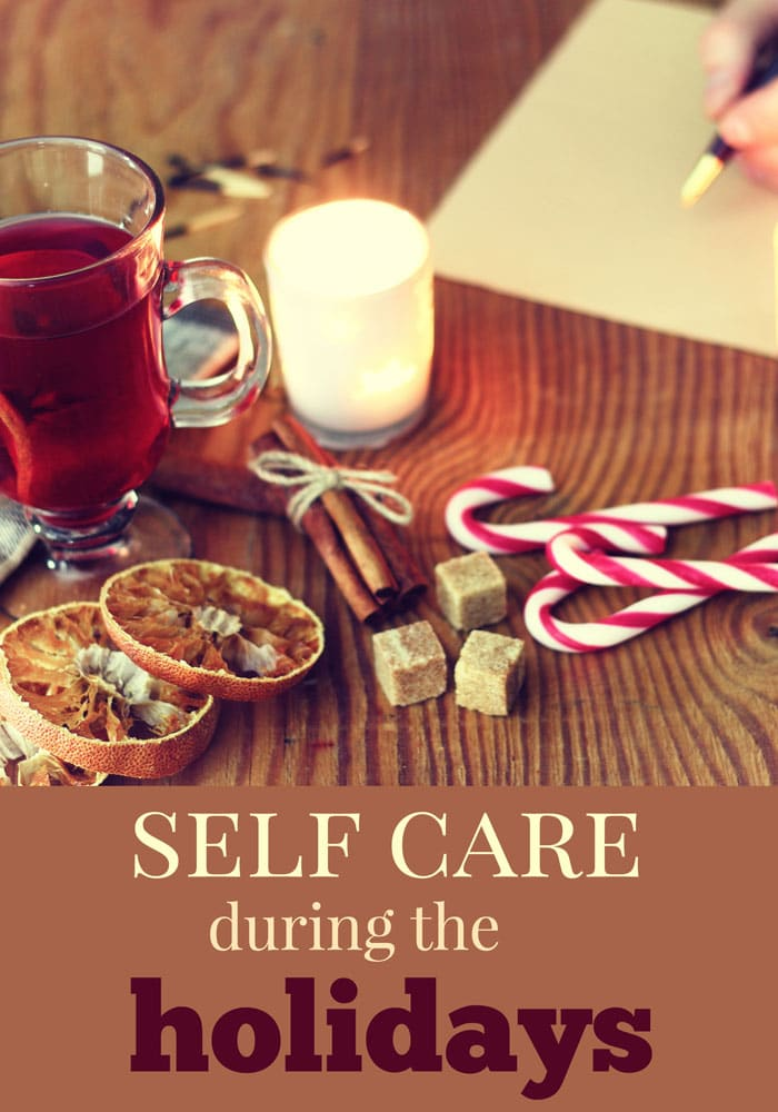 ideas for self care during holidays