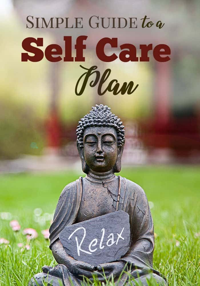 simple guide to a self care plan