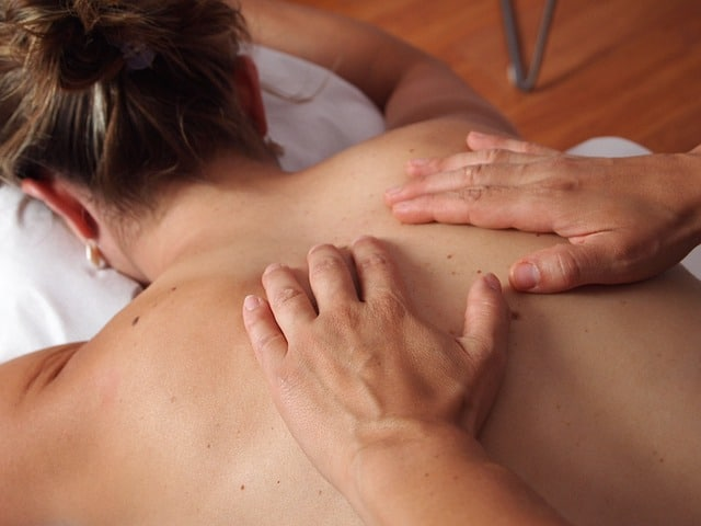 person getting massage