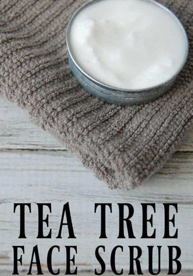 tea tree oil face scrub with baking soda
