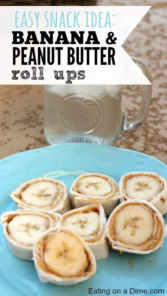 Banana Peanut Butter Rollups