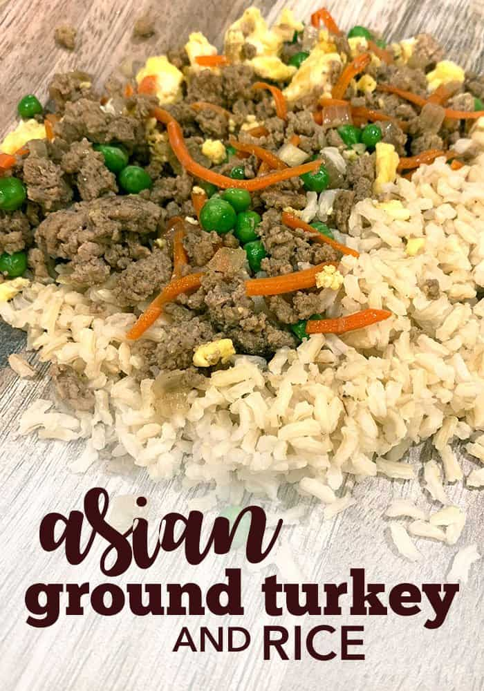 asian ground turkey and rice