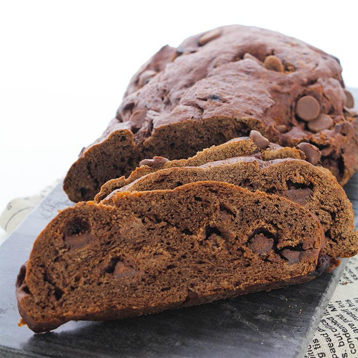 chocolate peanut butter homemade bread