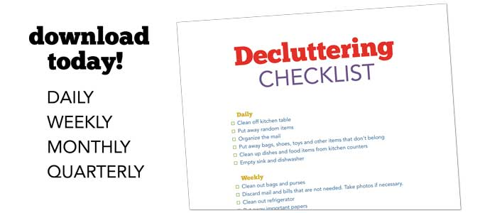 blog-decluttering-checklist 50 Things to Get Rid of Now