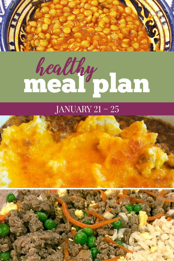 healthy meal plan january 21 - 25