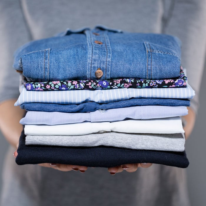 blog-marie-kondo-folded-shirts Easy Home Decluttering Tips