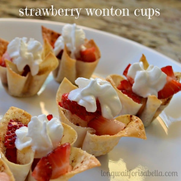 strawberry-wonton-cups 21 Easy and Delicious Appetizers for Kids