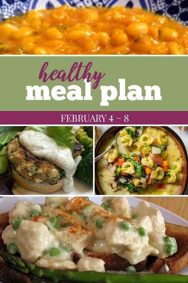 healthy meal plan feburary 4 2019