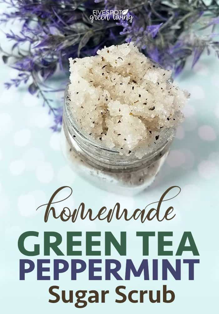 homemade green tea peppermint sugar scrub recipe