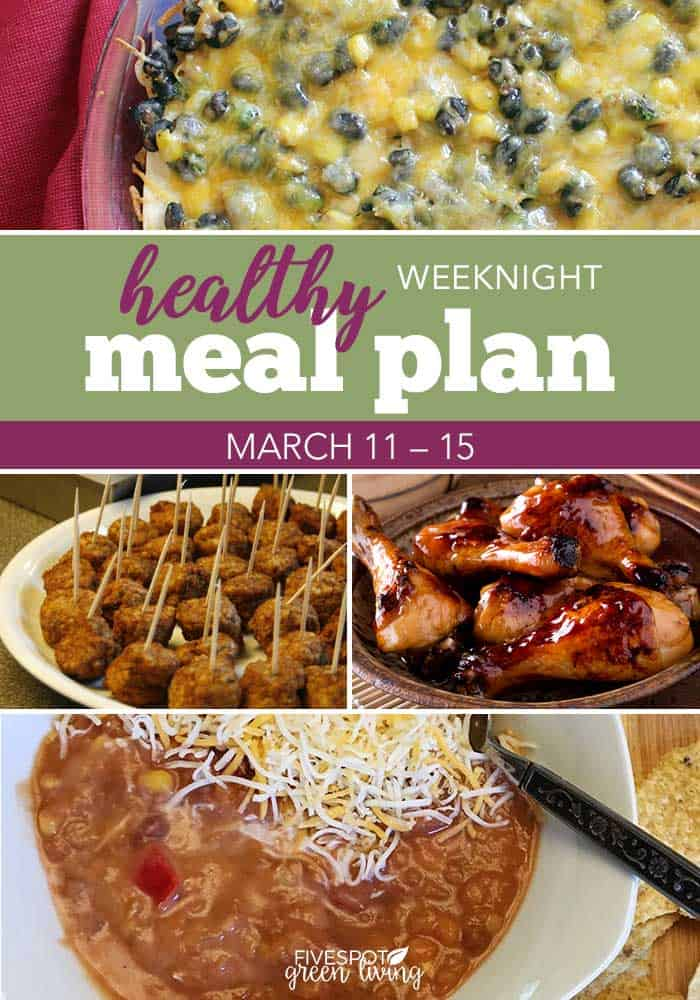healthy meal plan march 11