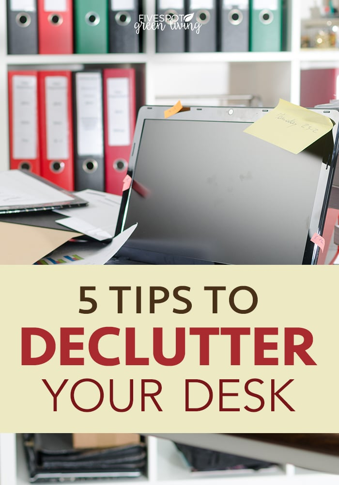 tips to declutter your desk and workspace