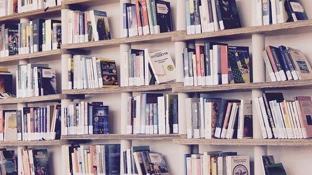 books in bookcase