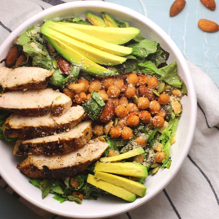 chicken chickpea salad