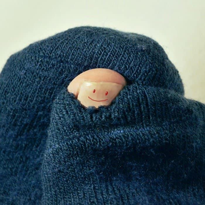 socks with hole
