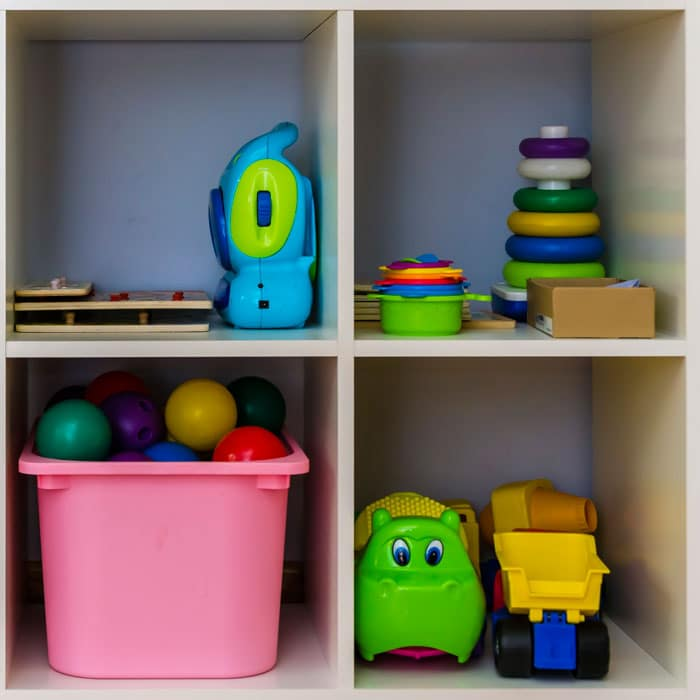 toy storage shelves