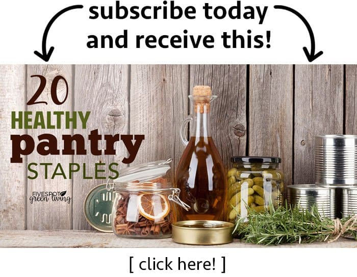 healthy pantry staples subscribe to newsletter
