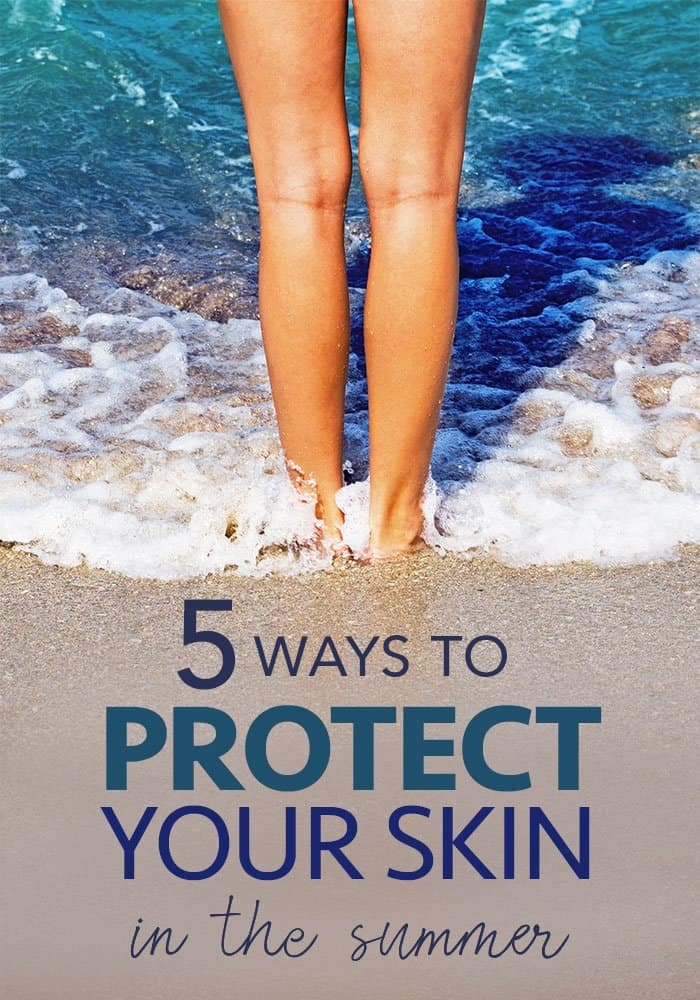 best skin protection from the sun - bare legs in the ocean