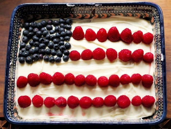 flag fruit cake