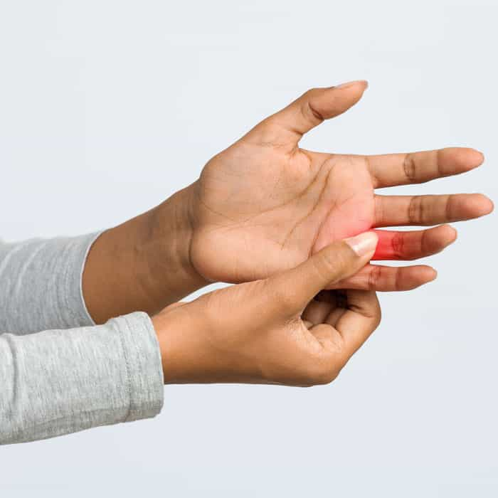 Arthritis pain in fingers and hands