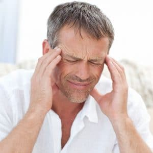 man with headache or migraine