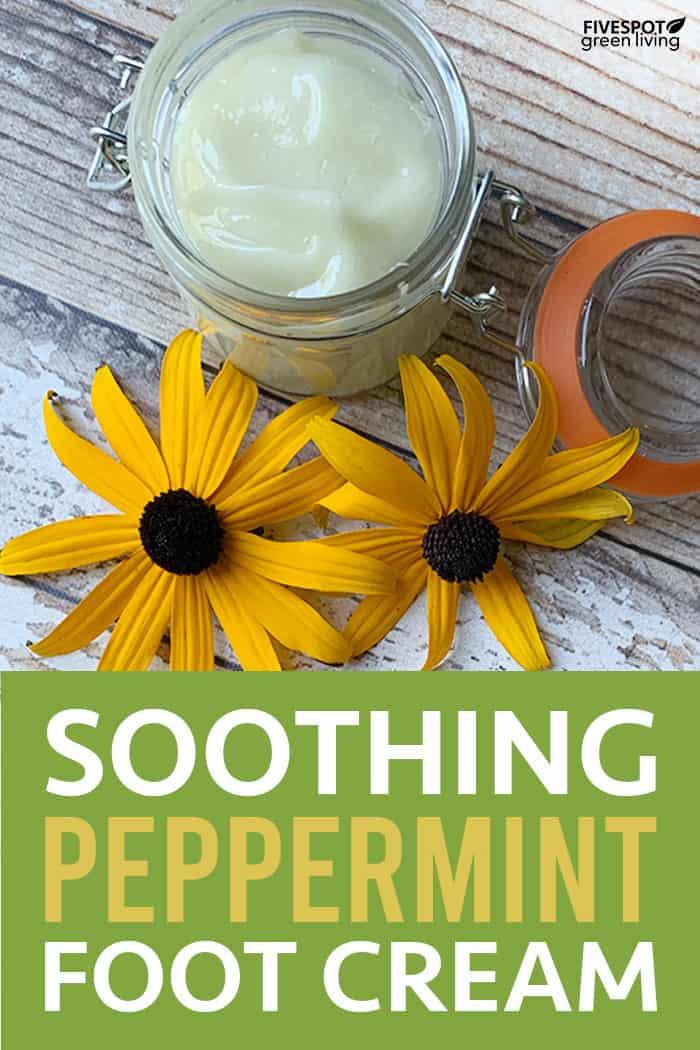 homemade peppermint foot cream
